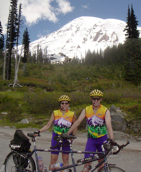 Spencer & Sheila at Paradise in front of Mt. Rainier