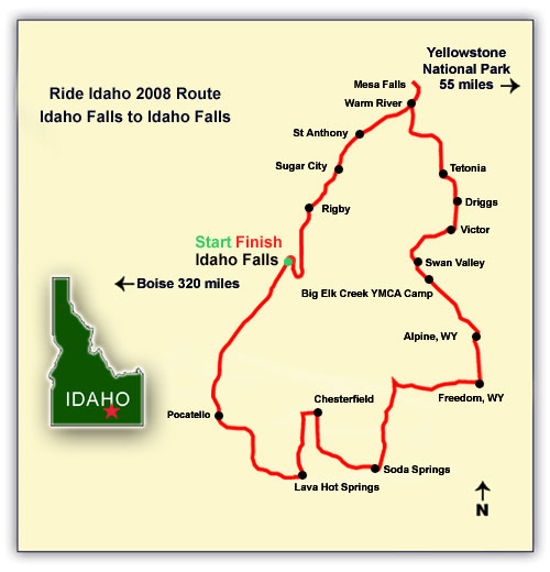 Ride Idaho route map