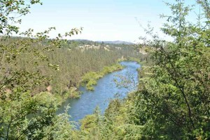 Spokane River from the bike trail