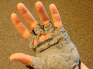 worn out glove