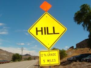 5 miles 14% grade hill
