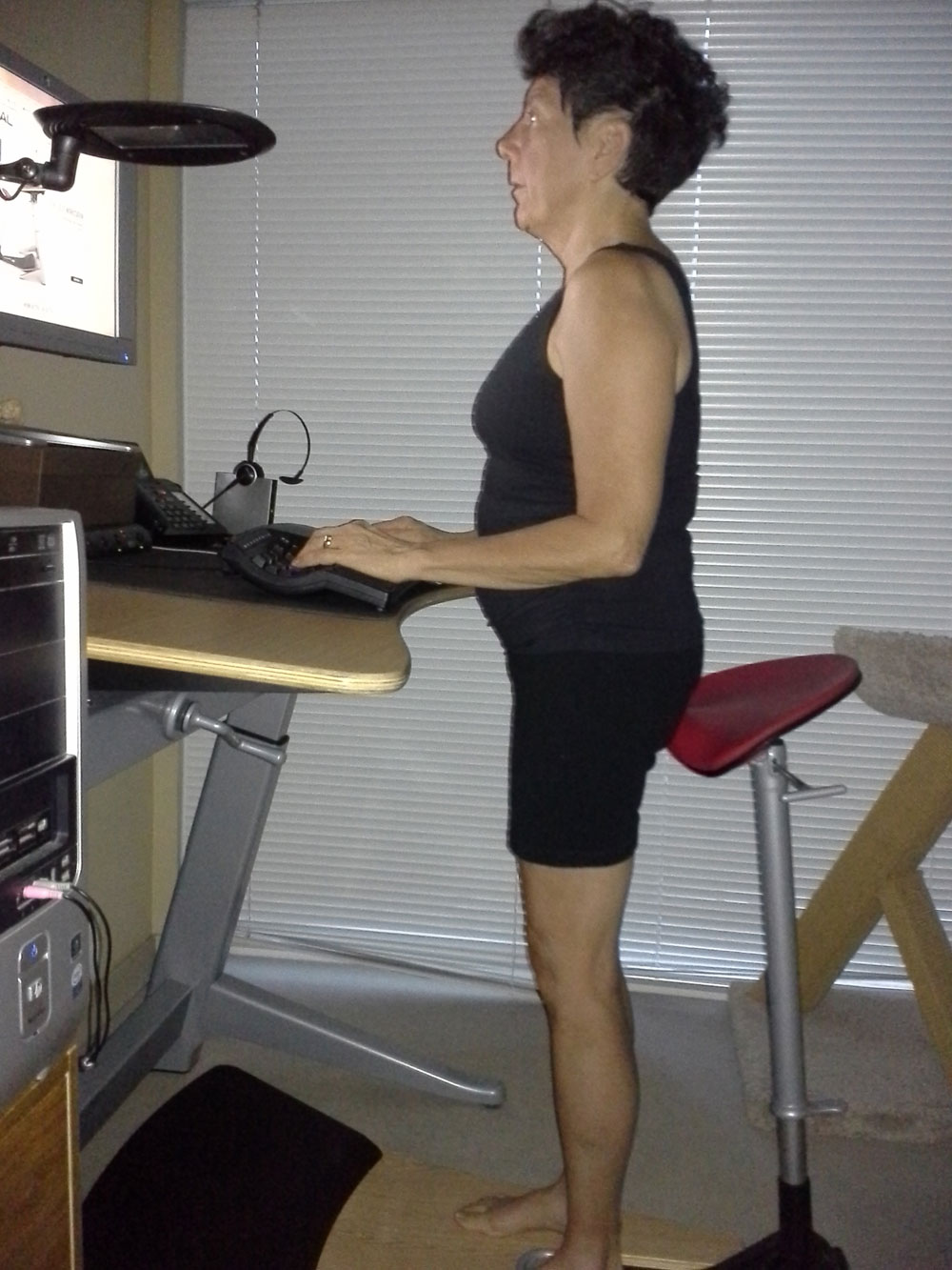 Standing work station for better health